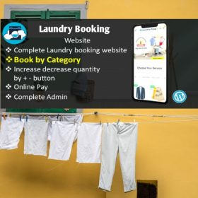 laundry booking webite development